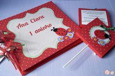 Clube da Joaninha: Convites e Livro de Assinaturas - Joaninhas