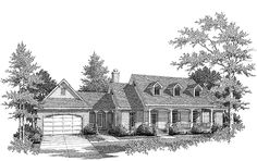 Country House Plan with 1594 Square Feet and 3 Bedrooms from Dream Home Source | House Plan Code DHSW49926