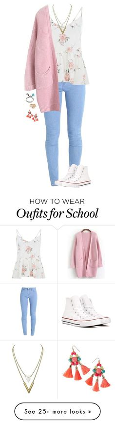 """school"" by garaff on Polyvore featuring Converse, Billabong and Lilly Pulitzer"
