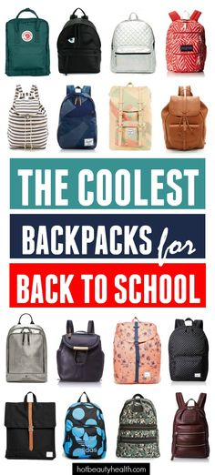 Want to show off your style at school with a cute carryall? Well, we've scoured the internet and picked out 20 of the coolest backpacks for heading back to school.