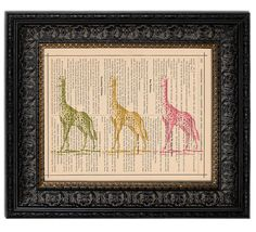 Nursery book pages art