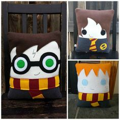 Wizard pillow, Harry, Hermione, Ron ,Luna, Draco, plush, Decorative Pillow