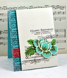 Best Birthday Wishes Card by Dawn McVey for Papertrey Ink (March 2013)