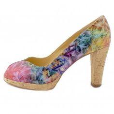 Peter Kaiser Edita Multi Coloured Peep Toe High Heels