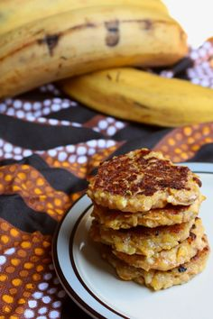 Semi-Sweet Plantain Fritters  (AIP, Low-FOMAP, Paleo, Vegan, Whole 30)