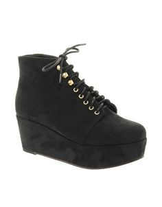 My every day boot for autumn, I think.  Enlarge ASOS VINCENT Flatform Ankle Boots