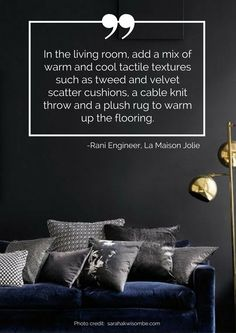 In the living room, add a mix of warm and cool tactile textures such as tweed and velvet scatter cushions, a cable knit throw and a plush rug to warm up the flooring. Read more tips for transitioning your home from summer to autumn here: https://nyde.co.uk/blog/transition-home-summer-autumn/
