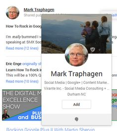 Customize Your Google Plus Hovercard to Gain More Followers.  This post shows you how to optimize your Google+ business card.