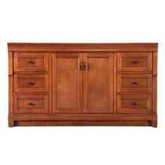 Naples 60 in. Vanity Cabinet Only in Warm Cinnamon for Single Bowl