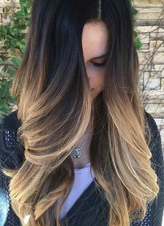 Beautiful ombre dyed hair