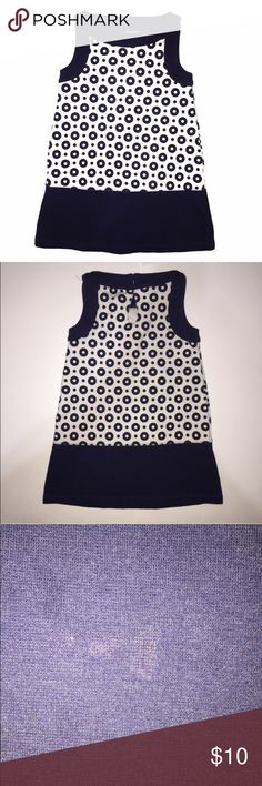 Gymboree Retro Dress Retro Gymboree Dress in great shape. Sooooo cute on! Colors are white and navy. Good used condition for a very light stain on hem-in my opinion unnoticeable; in otherwise pristine condition. Gymboree Dresses Casual