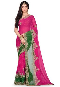 Net Saree, Georgette Sarees, Fancy Sarees, Party Wear Sarees, Back Neck Designs, Indian Fashion, Sleeve Styles, Ready To Wear, Model