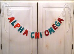 Alpha Chi Omega Banner  Photo Prop / Dorm by hawthorneave on Etsy