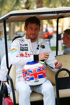 Jenson Button of McLaren Automotive Formula One