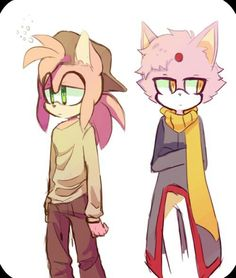 Amy and blaze genderbend