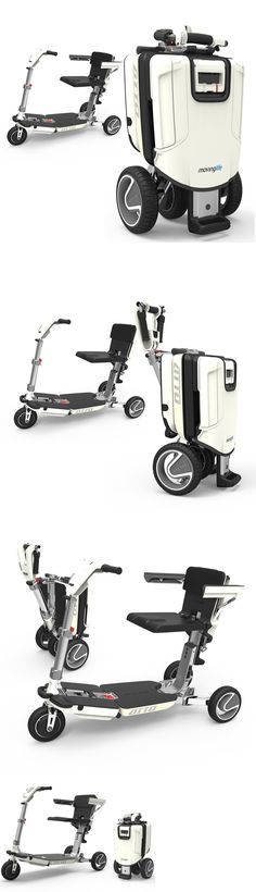 Mobility Scooters: Atto Deluxe Folding Lightweight Mobility Scooter New Model By Moving Life BUY IT NOW ONLY: $3495.0