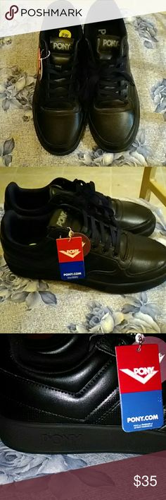 Classic black low-top micro cushion  Pony sneaks Brand new classic low top black micro cushion pony snakes Shoes Sneakers
