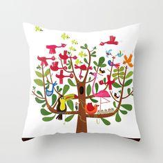 summer tree Throw Pillow by Joanne Liu | Society6