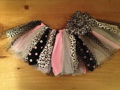 Pink, Silver, and Snow Leopard Scrap Fabric Tutu on Etsy Rockstar Birthday, Kylie Birthday, First Birthday Tutu, Fabric Tutu, Scrap Fabric, Fabric Scraps, Rag Skirt, Diy Tutu, New Baby Girls