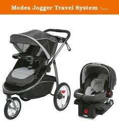 Modes Jogger Travel System - Admiral. Graco's Modes Jogger Travel System, in Admiral, gives you five ways to ride, plus everything you need to jog, with the top-rated SnugRide® 35 infant car seat. Five ways to ride includes infant car seat facing parent or the world, stroller seat facing parent or the world or traditional travel system. You'll have everything you need to jog while little one is nicely shaded with the extra large UV 50 rated canopy, with breathable mesh. One-hand, standing...