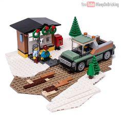 LEGO MOC 10259 Alternate moc - building instructions and parts list. Lego Moc, Lego Gingerbread House, Lego Winter Village, Lego Boxes, Lego Christmas, Lego Creator, Lego Projects, Modular Homes, Lego Building