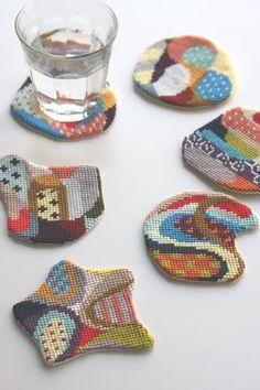 Cresus designs | Needlepoint coasters, how wonderful