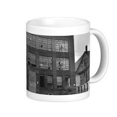 Abandoned Manufacturing Building Mug • This design is available on t-shirts, hats, mugs, buttons, key chains and much more • Please check out our others designs