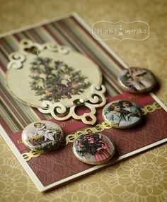 Flais buttons z aniołami Christmas Cards, Tray, Buttons, Decor, Christmas E Cards, Decoration, Xmas Cards, Trays, Christmas Letters