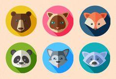 Flat Animal Icons on Behance