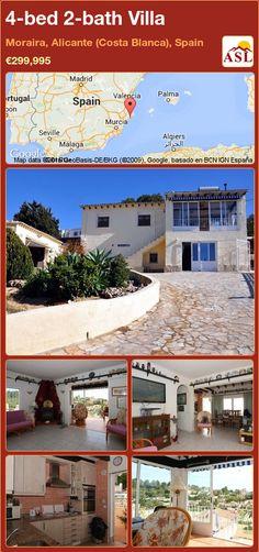 4-bed 2-bath Villa in Moraira, Alicante (Costa Blanca), Spain ►€299,995 #PropertyForSaleInSpain