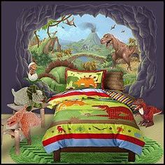 Go back in time and create a dinosaur themed kids room