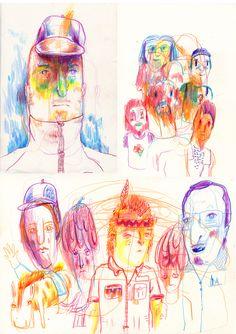 Buntstift Skizzenbuch Unsinn #doodle #sketchbook # coloredpencil
