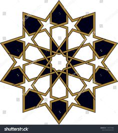 Ottoman Tile & Tezhip motifs are very similar to each other. Sacred geometry, star mandala, vector i Geometric Mandala, Geometric Drawing, Geometric Decor, Geometric Designs, Mandala Art, Islamic Motifs, Islamic Art Pattern, Pattern Art, Geometry Art