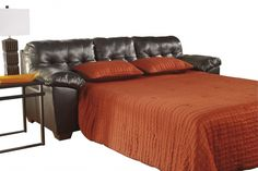 Alliston DuraBlend Chocolate Leather PU Queen Sofa Sleeper