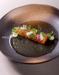 Salmon, pickles vegetable juice - Design Food Antonio Photography !