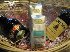 Irish Coffee gift basked with recipe, excellent house warming, host, or baby shower gift.