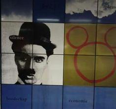 Chaplin and Mickey.