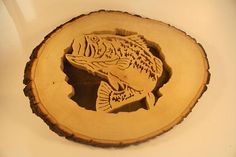 Fish in the Log - Fathers Day Gift - Wood Fish Wall Hanging - Fisherman Gift - Rustic Art Wall Decor - Rustic Fish Art - Scroll Saw Art #FishArt #RichsWoodShop #FathersDayGift #FishermanGift #HandmadeArt #FishInTheLog #ScrollSaw #WoodlandHomeDecor #NatureArt #WoodArt