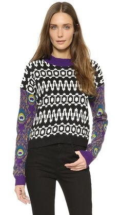 Tak. Ori Patterned Sweater 55% merino wool/35% alpaca/10% nylon. Hand wash or dry clean. Made in Italy.