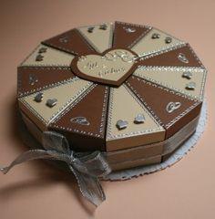 Pénzajándék-esküvői torta