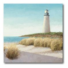 Have to have it. Lighthouse Canvas Wall Art - 16W x 16H in. - $45 @hayneedle