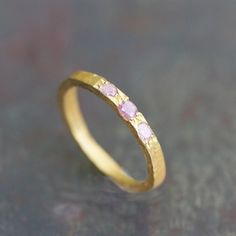 Alliance yellow gold and pink diamonds by Esther Assouline for Jewelry Designers Workshop.