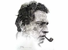 Buy Satyajit Ray - original artwork by Amit Bhar - ArtOfColors offer contemporary and modern art . Find the best art you love on ArtOfColors. Portrait Sketches, Pencil Portrait, Satyajit Ray, Ray Film, Vintage Posters, Vintage Photos, Illustration Art Drawing, Writers And Poets, Typography Inspiration