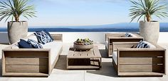 Massimo Collection - Weathered Teak | RH Modern