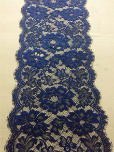 """30ft navy Table runner 10""""  lace table runner wedding  table runners navy lace runner 14110703"""