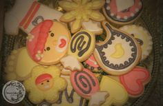 custom pink and yellow baby shower cookies