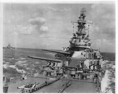 USS Iowa, with the Indiana in the background