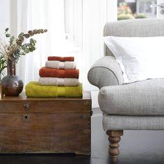 Christy Supreme Hygro 650gsm Cotton Towels - Chartreuse Green, Paprika Orange Towels