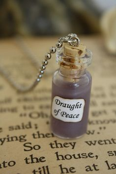 Harry Potter Potion Draught of Peace Vial Necklace by spacepearls, $14.00