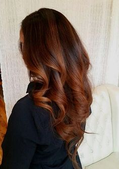 copper+ombre+highlights+and+V+cut
